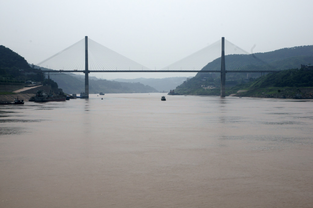 Fuling Yangtze River Bridge, Yangtze River river cruise, Fuling City, China
